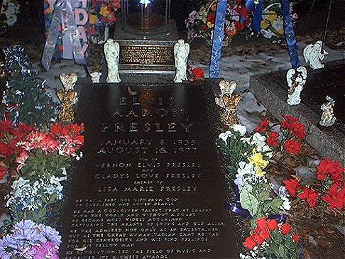 Elvis Aaron Presley's gravesite at Graceland's Meditation Gardens